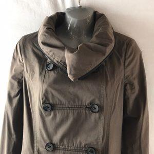 EUC Mackage Feminine Button-Down Trench/Rain Coat